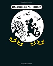 Halloween Notebook: halloween gecko silhouette pumpkin College Ruled - 50 sheets, 100 pages - 8 x 10 inches