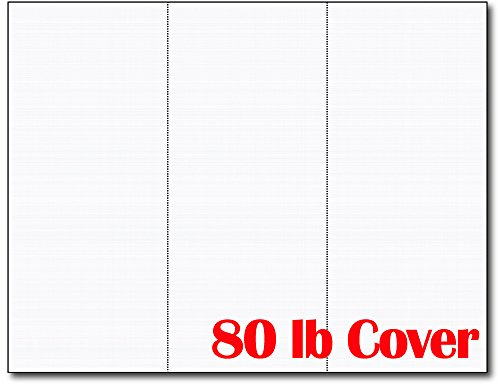 3up 80lb White Linen Textured Menu Cards/Connection Cards/Rack Cards (50 Sheets / 150 Pieces)