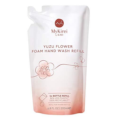 MyKirei By Kao Japanese Yuzu Flower Foam Hand Wash Refill, Sustainable Bottle, Citrus, 6.8 Fl Oz