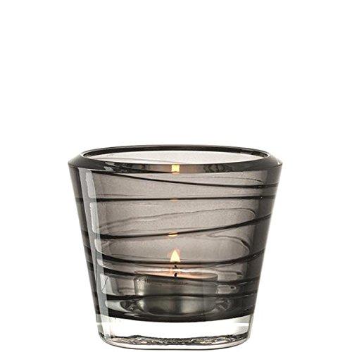 Leonardo Vario Glas grau Kerzenständer