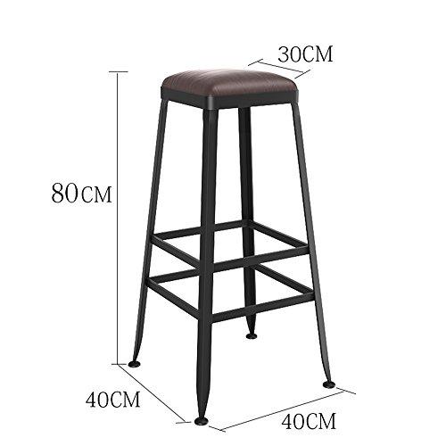 MEIDUO Durable Selles Tabouret de bar Tabouret de cuisine Tabouret Chaise Assise Style industriel pour intérieur extérieur (Couleur : PU pad, taille : 80cm)