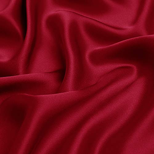 "100% Mulberry Silk Pure Silk Charmeuse 19 mm Fabric 45"" Dressmaking Sewing DIY Multi Colors Sold by The Yard"