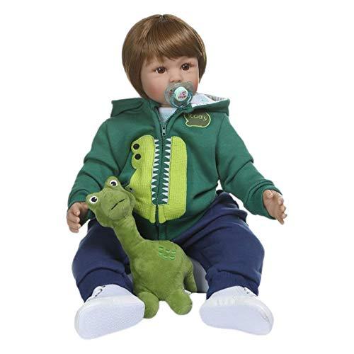 """GUMEI 24 """"60cm Mooie Reborn Baby Poppen Peuter Realistische Siliconen Korte Haar Speelgoed"""