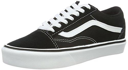 Vans Unisex-Erwachsene Old Skool Lite Plus Low-top, Schwarz (Suede/Canvas/Black/White), 44 EU