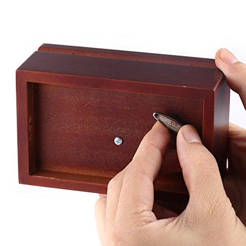 Caja de Música de Madera Caja Musical de 18 Nota Wind Up Caja de Música Caja...