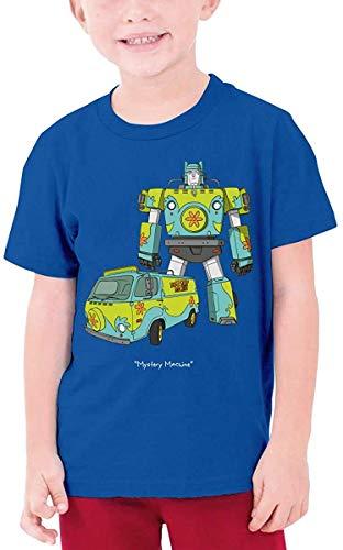 Tengyuntong T-Shirt Camisetas y Tops Polos y Camisas Scooby-Doo Mystery Machine Boys Girls Short Sleeve