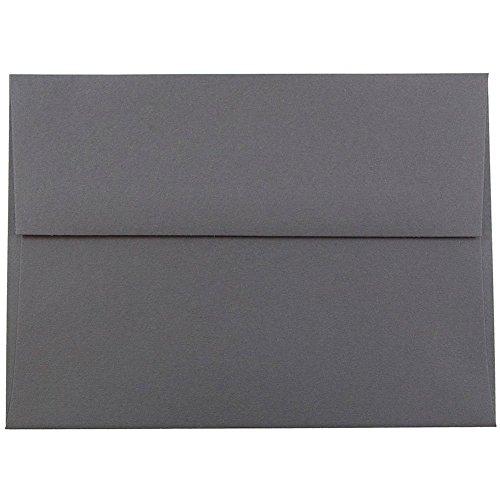 JAM PAPER A6 Premium Invitation Envelopes - 4 3/4 x 6 1/2 - Dark Grey - 50/Pack