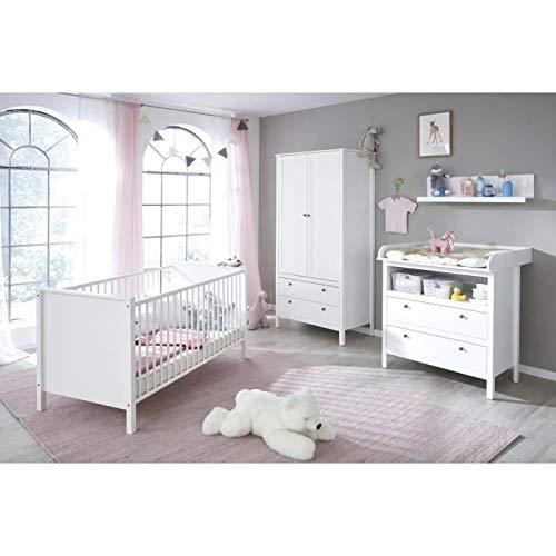 Trendteam Chambre bébé ole 3 Pieces : lit + Armoire + Commode