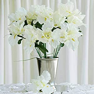 60 Cream Silk IRIS Wholesale Wedding Flowers Bouquets Centerpieces SALE