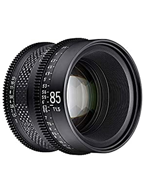 ROKINON XEEN Cf 85mm T1.5 Pro Cinema Lens with Carbon Fiber Construction & Luminous Markings for ARRI PL Mount from ROKINON