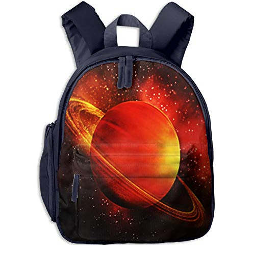 Mochilas Infantiles, Bolsa Mochila Niño Mochila Bebe Guarderia Mochila Escolar con Júpiter Planeta Saturno Espacio para Niños De 3 A 6 Años De Edad