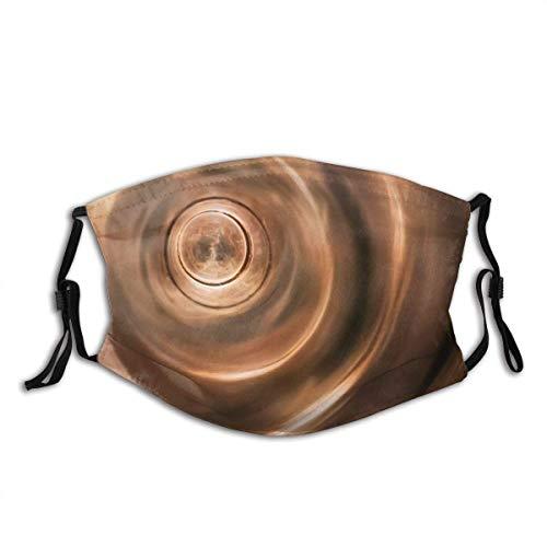 Gesicht Mas-ke Zusammenfassung Warm Shiny Tunnel Spiral Spin Circle Musikinstrument Flöte Makro Tiefe des Feldes Sturmhaube Bandanas