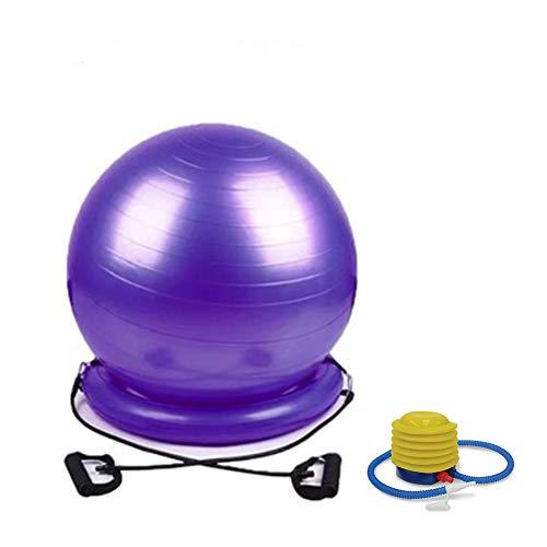 Raymonj Yoga Ball Chair Balance Ball Posture Chair 65cm Palla per Esercizi con Anello di stabilità e Pompa per Gravidanza, Yoga, Pilates, Core Fitness
