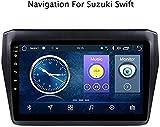 GPS Auto Navigation, Android 8.1 für Suzuki Swift 2017 2018 2019 Multimedia-Auto-DVD GPS Navigation Stereo-Radio BT WiFi, mehrere Audio-Formate unterstützt,1 + 16g,10,1 Zoll