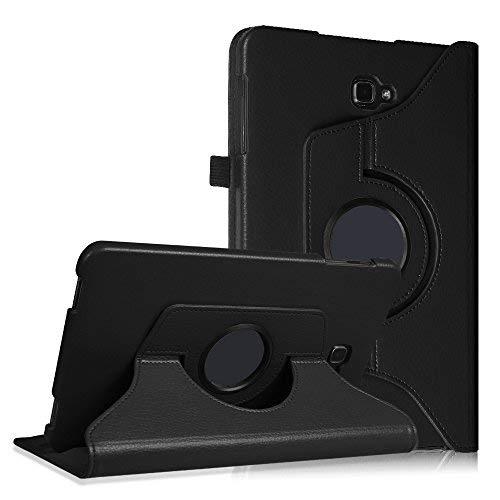 Fintie Hülle für Samsung Galaxy Tab A 10,1 Zoll T580N / T585N Tablet - 360° Drehbarer Stand Cover Case Schutzhülle Tasche Etui mit Ständerfunktion Auto Schlaf/Wach Funktion, Schwarz