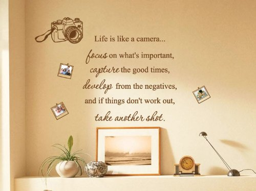 XX Large Life Is Like a Camera Photo Family Art Wall Quotes / Wall ...