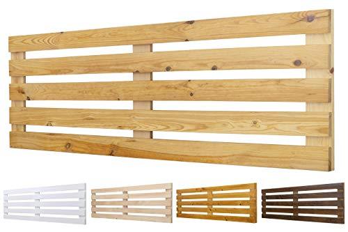 Cabecero de Madera Maciza Mod. Venecia para Camas de 80cm, 90cm, 110cm, 135cm, 150cm. Herrajes incluidosCIA (145cm X 60cm, Pino)
