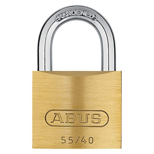 ABUS 55/40 Solid Brass Padlock with Hardened Steel Shackle, Keyed Different