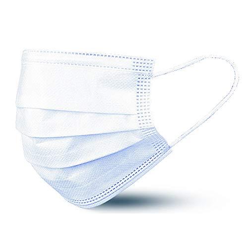 Beurer MM 10 Medizinische Gesichtsmaske 50 Stück, 3-lagiger Mund- und Nasenschutz schützt Ihr Umfeld gegen Tröpfchen und verschiedene Mikroorganismen in der Luft, wärmeabsorbierend, hautfreundlich
