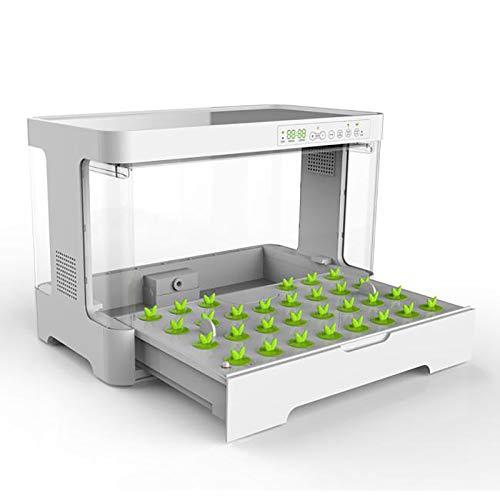 ZLRE Kit de Cultivo hidropónico Caja de plantación de Vegetales hidropónicos Kits de jardinería con luz de Cultivo LED, Control de Temperatura y Bomba de Aire Inteligente