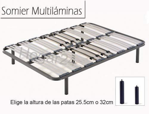 HOGAR 24 Somier Multiláminas con Reguladores Lumbares + Juego De 5 Pa