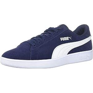PUMA Men's Smash V2 Sneaker, Peacoat-White, 10 M US