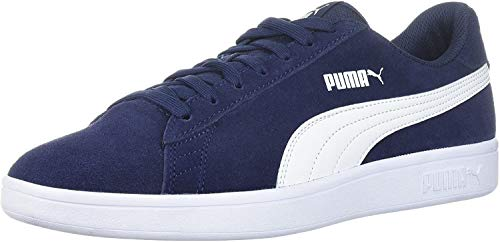 PUMA Men's Smash v2 Sneaker, Peacoat-White, 5.5 M US