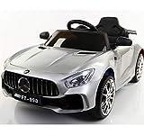GJX Kinderfahrrad, 2,4G Fernbedienung Elektroauto Allradantrieb Doppel Elektroauto Früherziehung Spielzeug Kinderwagen Geschenk,Grau,leatherseat+Swing