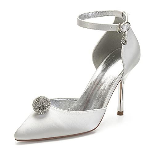 Zapatos de Novia de Las Mujeres Zapato De Tacón De Aguja Correa...