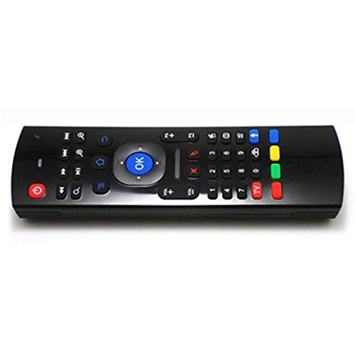 RETYLY Raton Remoto Aire 2.4GHz Raton Teclado inalambrico con Entrada de Voz Control Remoto de Android TV Inclinacion infrarroja para Android TV Box, PC, OS