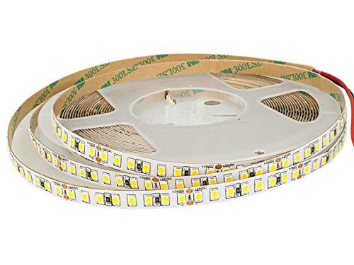 Bobina LEDLUX 24V Led 10 Metros IP20 12W / M 1600 smd 2835 2000 LM/M Paso 8mm (3000K)
