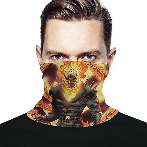 Best-design fantasma Rider uomini e donne in microfibra scaldacollo leggings elastici copertura viso mezza maschera tubo sciarpa versatilità bandana fascia copricapo