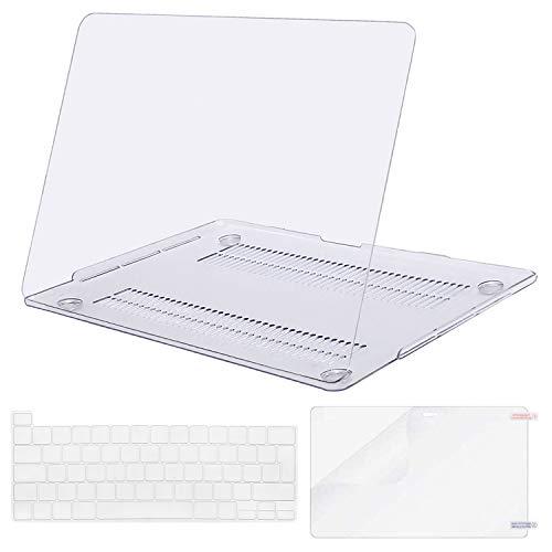 MOSISO Funda Dura Compatible con 2019 MacBook Pro 16 Pulgadas con Touch Bar A2141, Ultra Delgado Carcasa Rígida Protector de Plástico & Protector de Pantalla & Clara Cubierta de Teclado, Cristal