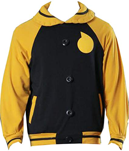 Nsoking Soul Eater Jacket Coat Soul Evans Cosplay Costume Halloween Costume Sports Jacket Hoodie (Small, Yellow)