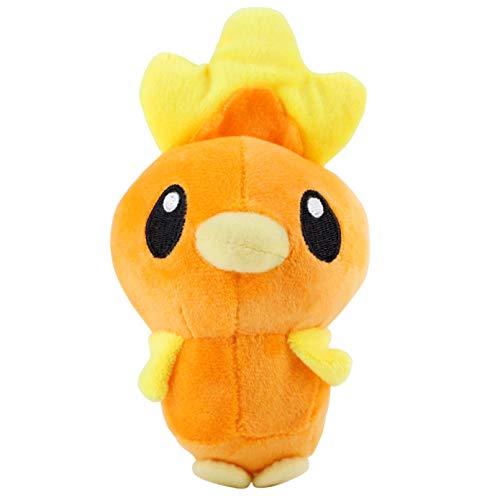 PANQQ 15 cm / 6 Pulgadas Anime Torchic Juguete de Felpa Pollo Naranja muñecos de Peluche Suaves Regalo para niños