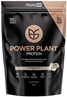 PranaOn Power Plant Protein, Coconut Mylk, 400 grams