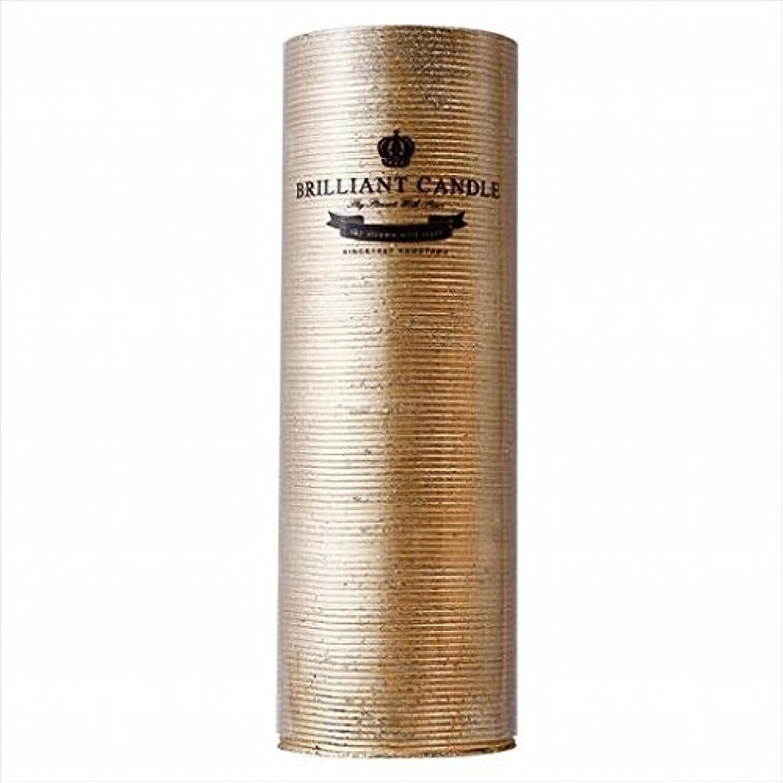 擁する第九爵kameyama candle(カメヤマキャンドル) ブリリアントピラー2×6 「 ゴールド 」(A9292200GO)
