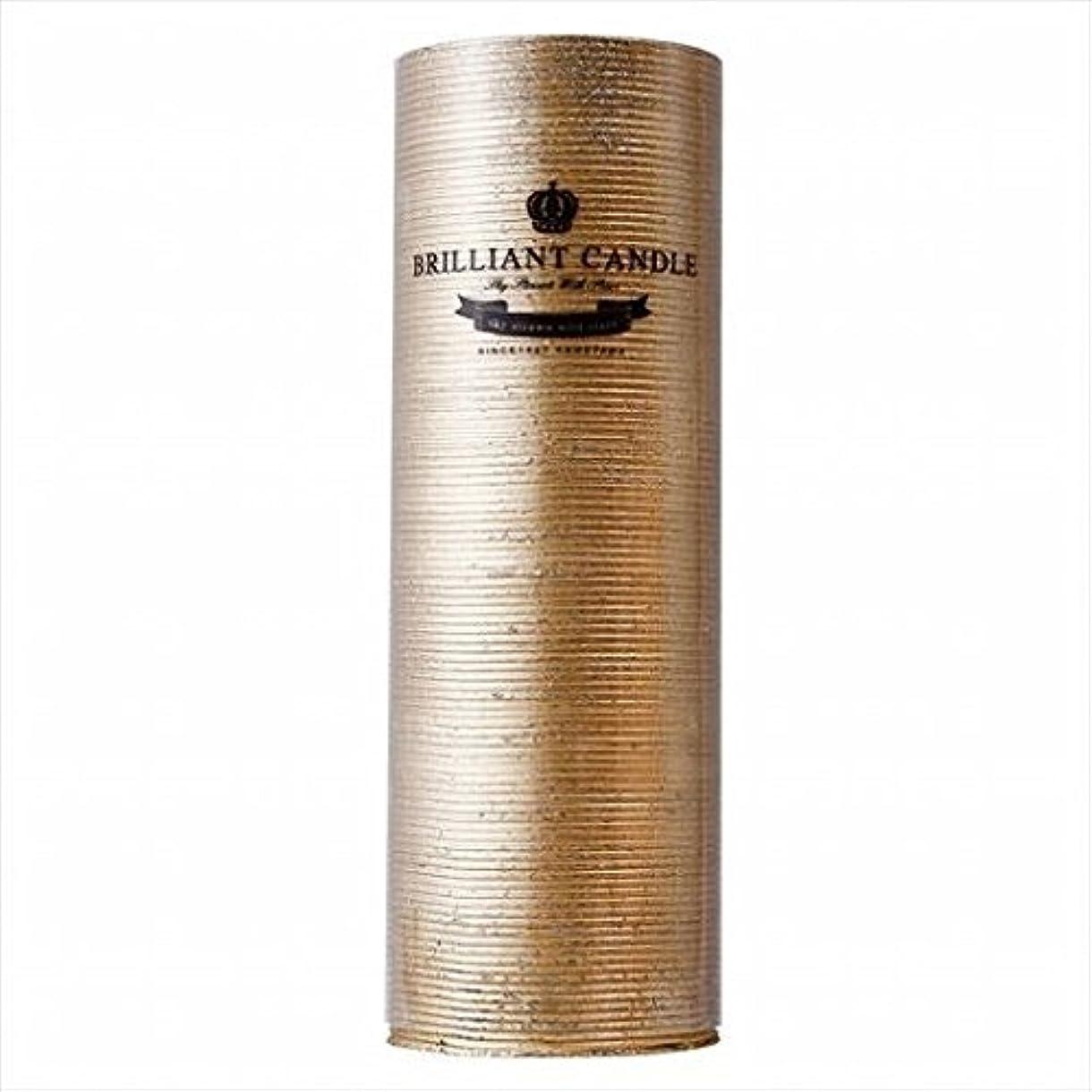 請求ヘビみなすkameyama candle(カメヤマキャンドル) ブリリアントピラー2×6 「 ゴールド 」(A9292200GO)