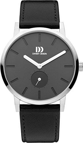 Danish Design Herren Analog Quarz Uhr mit Leder Armband IQ14Q1219