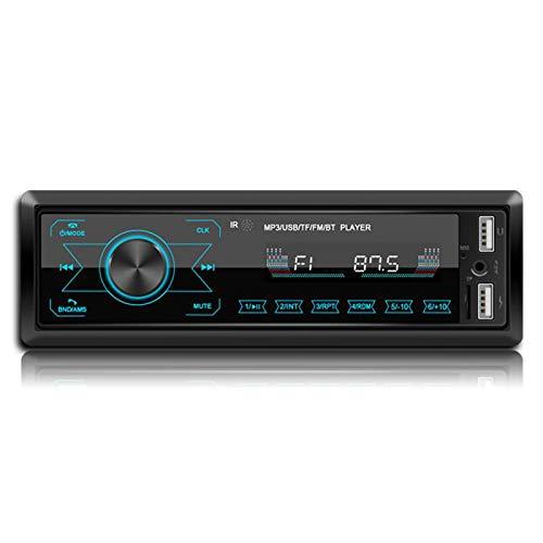 WUBAILI Sistemas De Audio Estéreo Multimedia para Automóvil: Audio Bluetooth Y Llamadas con Manos Libres, Reproductor MP3, Puerto USB, Entrada AUX, Receptor De Radio Am/FM, Multicolor