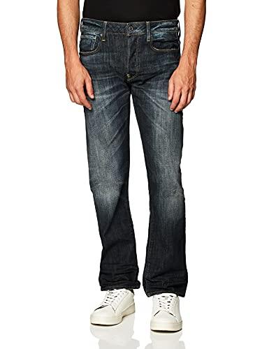 G-STAR RAW Revend Pantolon Straight, Blu (Dk Aged 6083-89), 32W / 32L Uomo