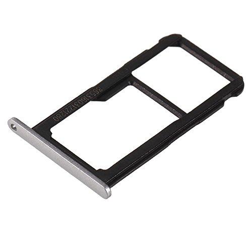jbTec SD-Card/SIM-Tray/Halter passend für Huawei P8 Lite 2017 - Slot Karte Schlitten Rahmen Holder Handy Card Ersatz, Farbe:Silber