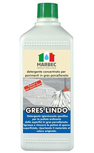 Marbec - Gres Lindo 1LT | Detergente igienizzante concentrato specifico per la Pulizia ordinaria dei...