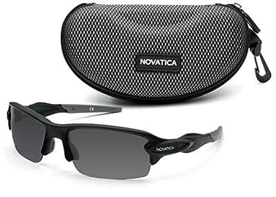 NOVATICA Shooting Glasses for Men Women – Anti Glare Gray Semi Polarized TAC Glasses – UV Protection – Scratch Impact Resistant TAC Lenses - Sturdy TR90 Frame & Premium Hard Case