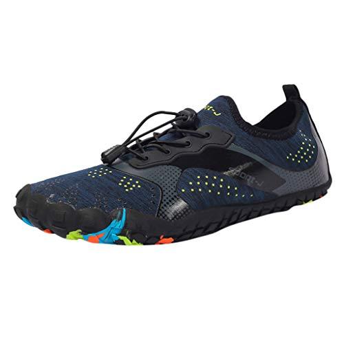 TUDUZ Damen String Sandalen Unisex-Erwachsene Espadrilles Herren Laufschuhe Schnürhalbschuhe Slipper Sneaker Outdoorschuhe Stiefel(B-Blau,44EU)