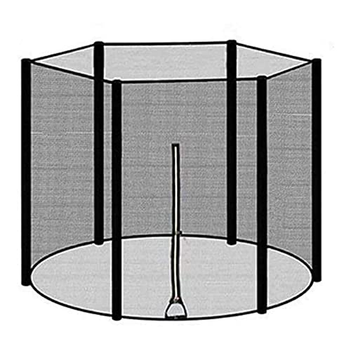 GYYlucky Red de Seguridad para trampolín de jardín, Red de Recambio, Red de protección Redonda para trampolín de Exterior Ø 244306366183 cm de diámetro para 6 Postes, Resistente al desgarro