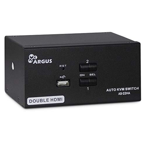 Inter-Tech KVM KVM-AS-22HA HDMI line in 4X HDMI 4X 3,5mm 3pol. Klinke 1 Power line Out 2X USB 2X 3,5mm 3pol Klinke 2X HDMI