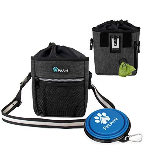 PetAmi Dog Treat Pouch   Dog Training Pouch Bag with Waist Shoulder Strap, Poop Bag Dispenser and...
