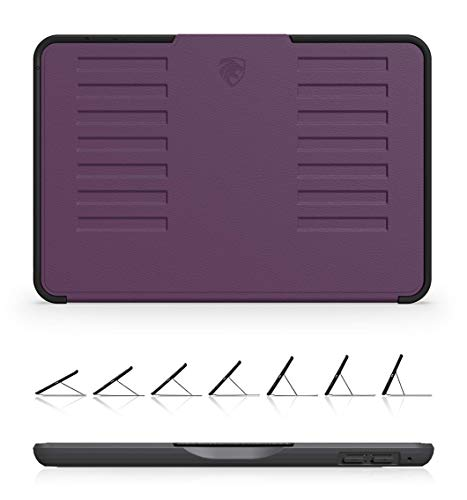 ZUGU CASE - iPad Mini 5 & 4 Muse Case - 5 Ft Drop Protection, Secure 7 Angle Magnetic Stand (Purple)
