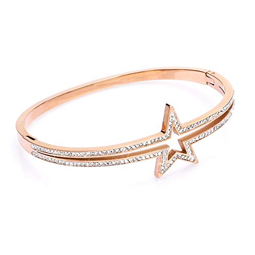 Phogary'Star' pulseras clásicas para mujer de oro rosa con cristales de Swarovski, regalo de Navidad de Acción de Gracias, regalo de Navidad para mujeres, mamá, madre, esposa, viene con caja de regalo